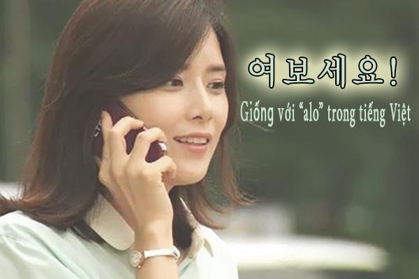 Nói xin chào tiếng Hàn khi nghe điện thoại như thế nào?