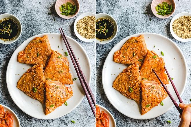 Cách làm bánh xèo kim chi Hàn Quốc