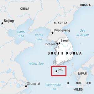 Vị trí địa lý của đảo Jeju