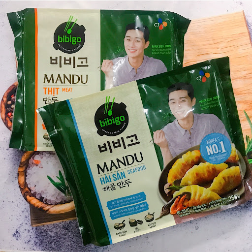 Đồ ăn vặt Hàn Quốc đóng gói bánh gạo cay bánh xếp mandu truyền thống